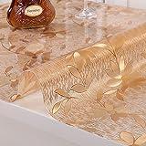 Waterproof pvc tablecloth/anti hot plastics table cloth/crystal table mat/tea table mats/transparent table cloth-A 70x140cm(28x55inch)