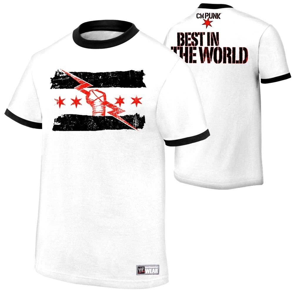 9604dadf3 WWE CM Punk Best in the World Authentic T-Shirt SIZE MEDIUM: Amazon.co.uk:  Kitchen & Home
