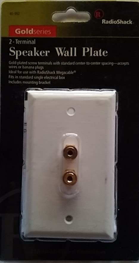 white 2 binding post 1 speaker wire wall plate for surround sound home audio rca wall plate speaker home wiring wall plate #11