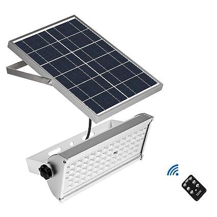 MIMI KING Luces Solares Al Aire Libre 65 Leds, 12 W Sensor De Movimiento Inalámbrico