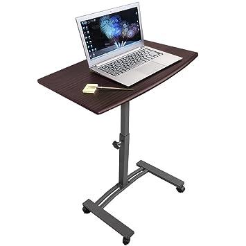 Tatkraft Salute Escritorio de Pie Móvil para Ordenador Portátil Mesa de Altura Ajustable 52-84 cm Soporte Laptop con Ruedas de Bloqueo: Amazon.es: Hogar