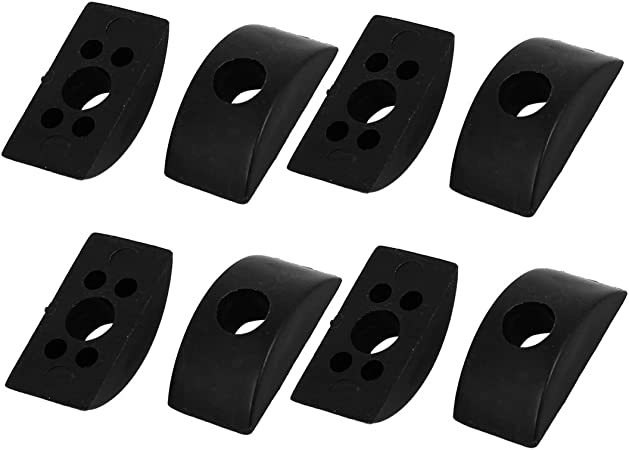 uxcell 8mm Hole Dia Furniture Connector Half Moon Nuts Spacer Washer Black 20PCS a16111800ux0931