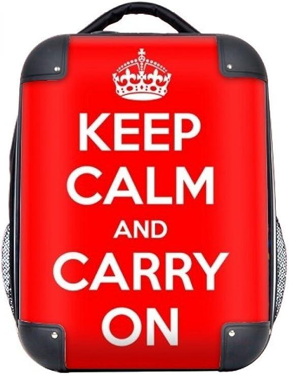 DIYthinker Cita Guarde la calma y continúe la caja dura roja de ...