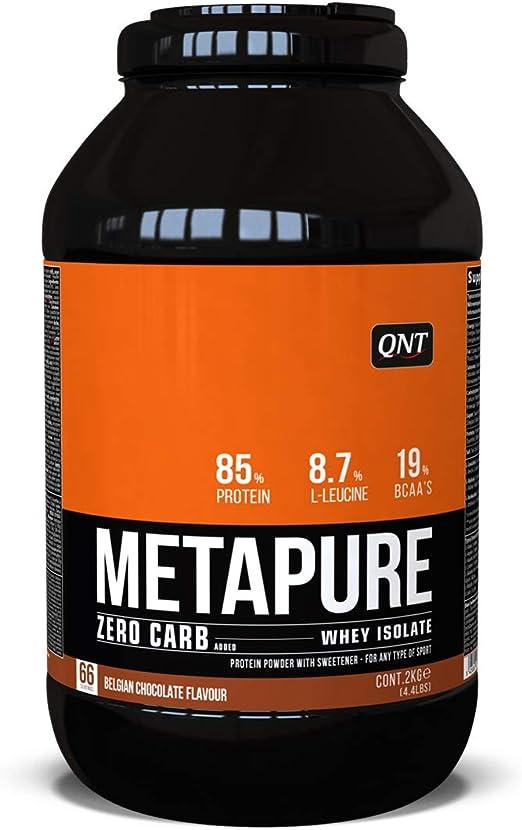 QNT Metapure Zero Carb Whey Isolate, Sabor Belgian Chocolate - 2000 gr