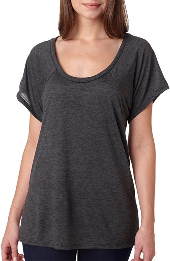 8801 Bella Ladies Junior Fit Melody Flowy T-Shirt