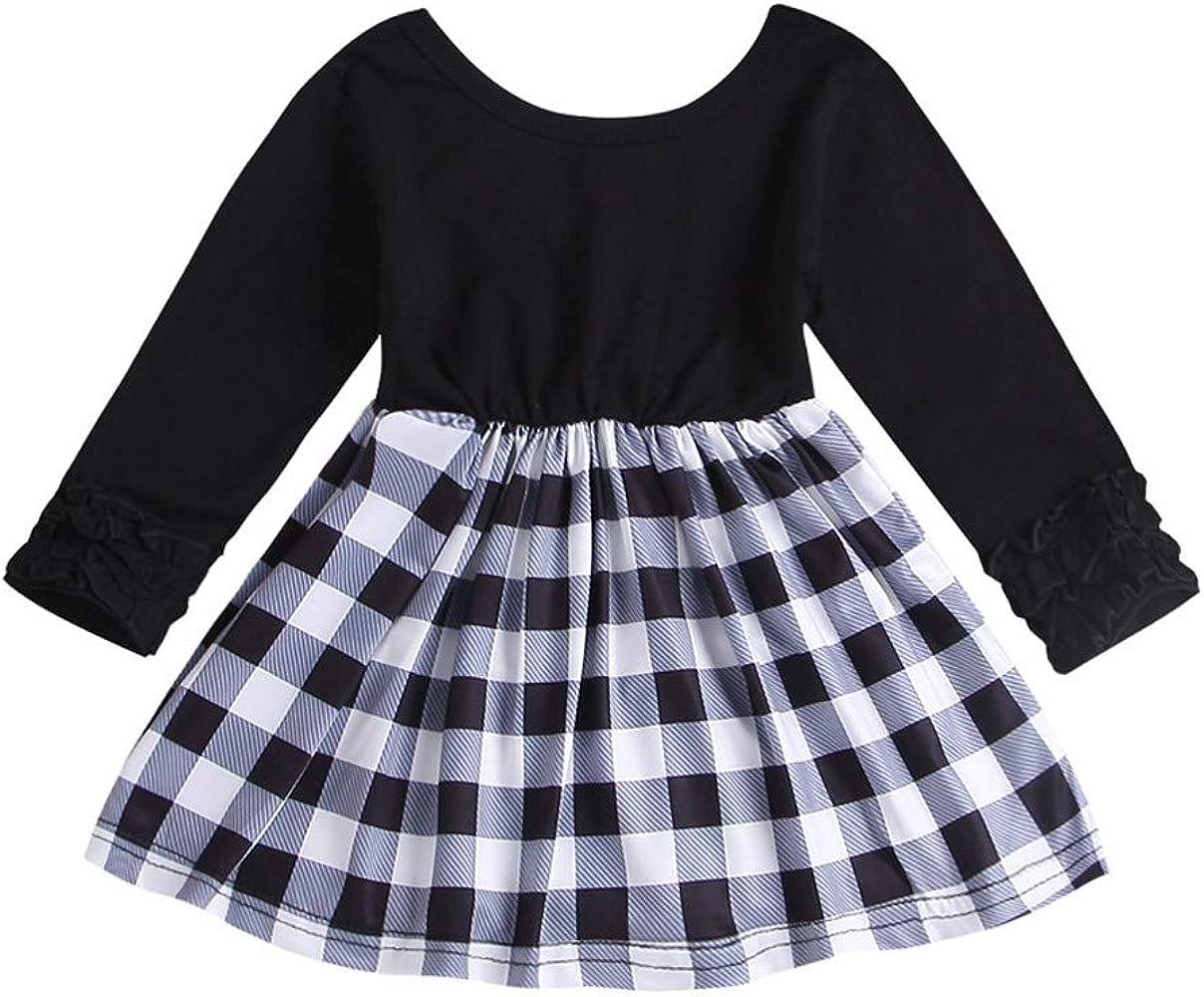 ASHOP Vestidos niñas Fiesta Manga Larga Faldas Tutus Vestido ...