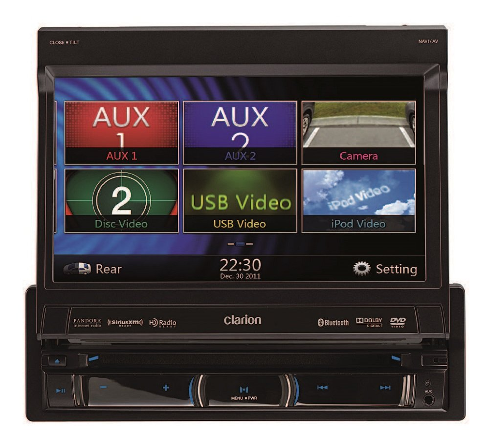 amazon com clarion nz503 dvd multimedia receiver built in amazon com clarion nz503 dvd multimedia receiver built in navigation and single din motorized 7 inch high resolution touch panel control car