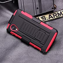 LG Nexus 5 Case, Cocomii Robot Armor NEW [Heavy Duty] Premium Belt Clip Holster Kickstand Shockproof Hard Bumper Shell [Military Defender] Full Body Dual Layer Rugged Cover Google (Red)