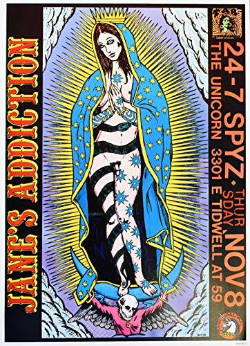 Jane's Addiction Concert Poster Frank Kozik Signed Houston 1990