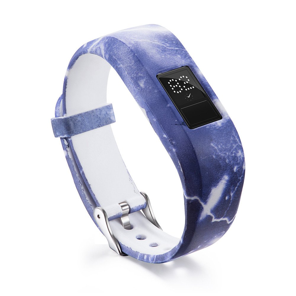 Garmin Vivofit 3 Bands,Lovewe Soft Silicone Replacement Strap Accessory Flower Printing Wristbands For Garmin Vivofit 3 (S)