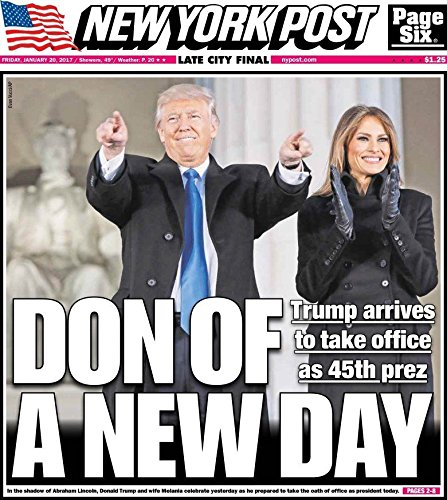 NEW YORK POST 1/20/2017 AND 1/21/2017 INAUGURATION DAY AND NEXT DAY ISSUES