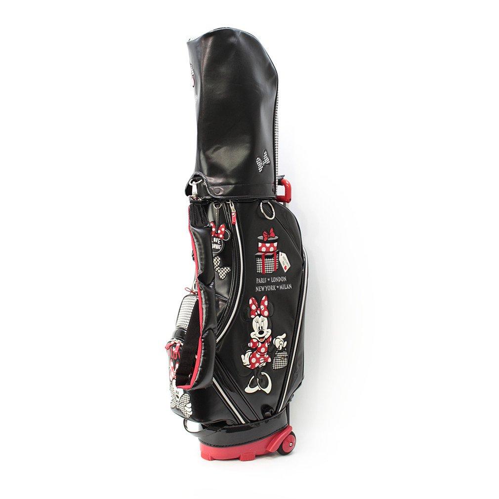 ディズニー キャスター付きキャディバッグ 8.5型 レディース ゴルフ DN-0B2007CTCB B0797Q2781ブラックXレッド 8.5