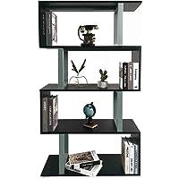 Vordern Wooden Wood S Shape Storage Unit Chest Bookshelf Bookcase Cupboard Cabinet Home Office Furniture New (White…