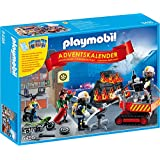 Playmobil 5495 - Calendario Dell'Avvento, Pompieri in Azione con Card Game