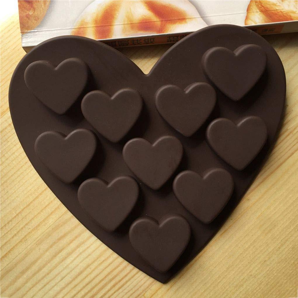 Busirde Amour Romantique Silicone Gel de silice Moisissures Plateau de Glace au Chocolat Glace Moule Amour Forme Petit Coeur G/âteau Moule
