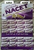 100 NACET Stainless Double Edge Razor Blades Made