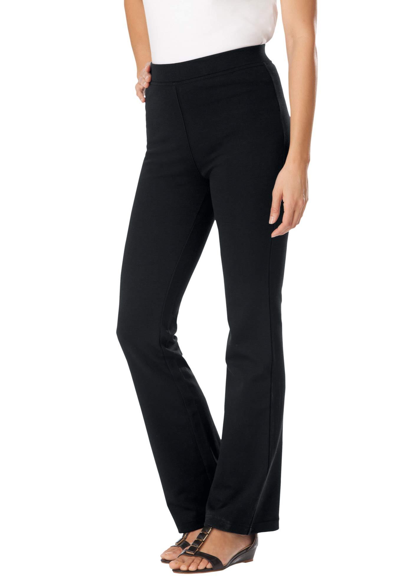 Woman Within Women's Plus Size Bootcut Ponte Stretch Knit Pant