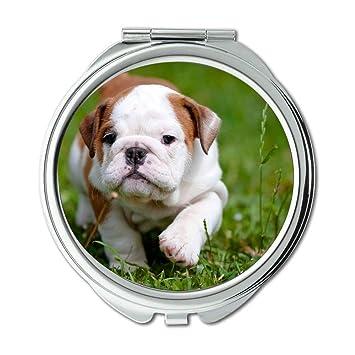 Yanteng Spiegel Compact Mirror Englischer Bulldog Pitbull Hund