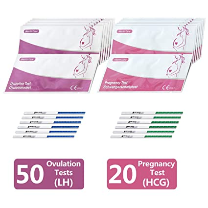Ovulation Test Kit, 50 (LH) Ovulation Tests and 20 (HCG) Pregnancy Test  Strips Kit - Ovulation Predictor Kits (50 LH + 20 HCG Tests)