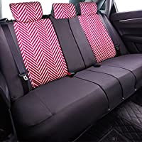 Black with Purple CAR PASS HOMESTYLE Linen Universal Fit Car Seat Covers with Opening Holes,Universal fit for Suvs,Cars,Trucks,Sedans,Vans,Airbag Compatible