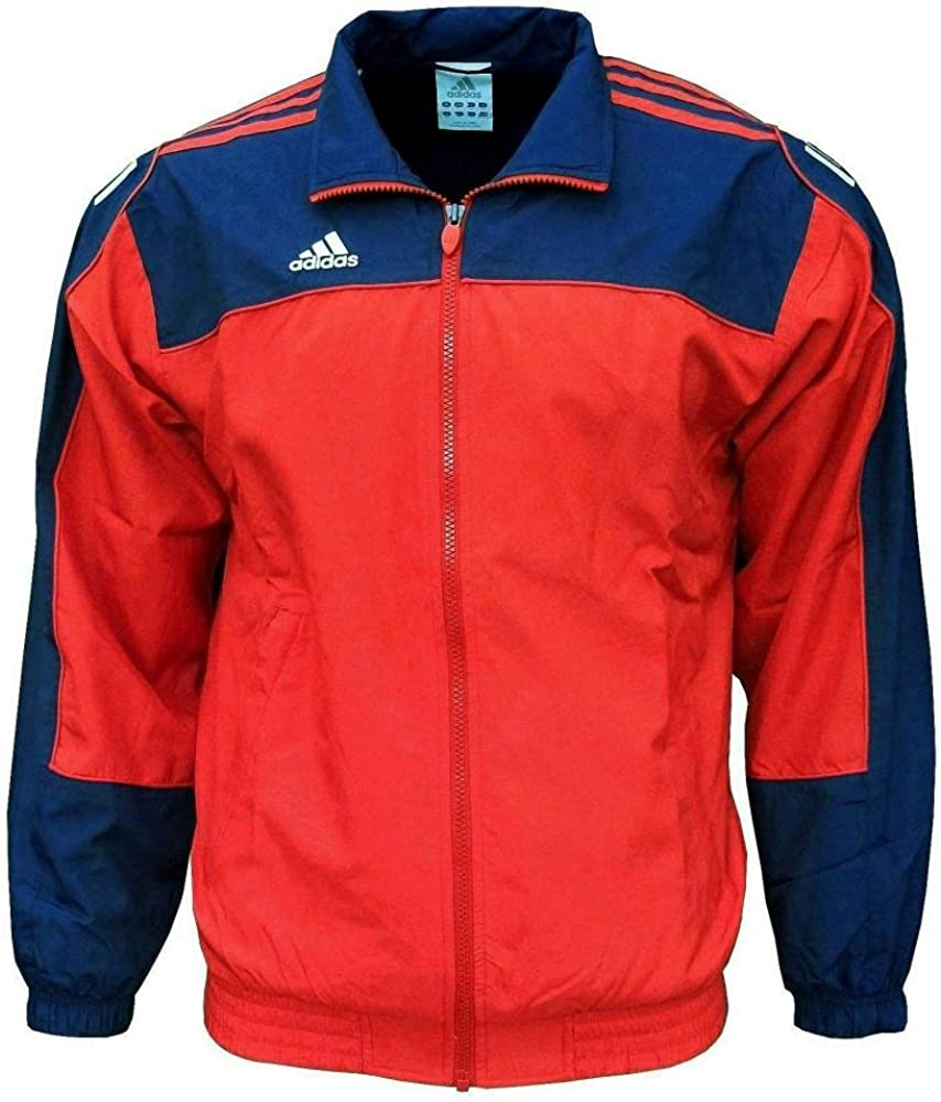 Adidas - 3S Essentials - Chaqueta de chándal para hombre - Rojo y ...