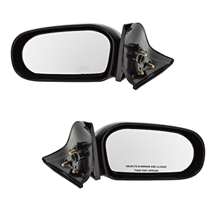 For 89-95 Toyota Pickup Truck Manual Black Fold Door Mirror Left Right SET PAIR