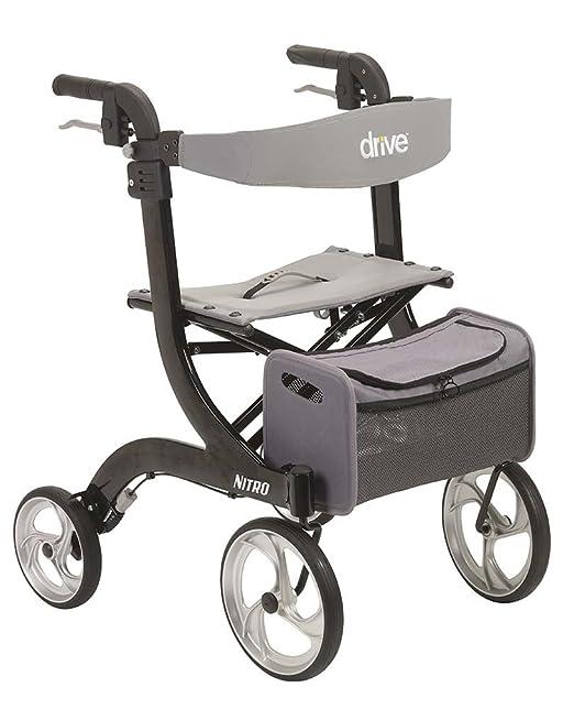 Drive Medical Nitro Euro Style - Andador con ruedas, color negro ...