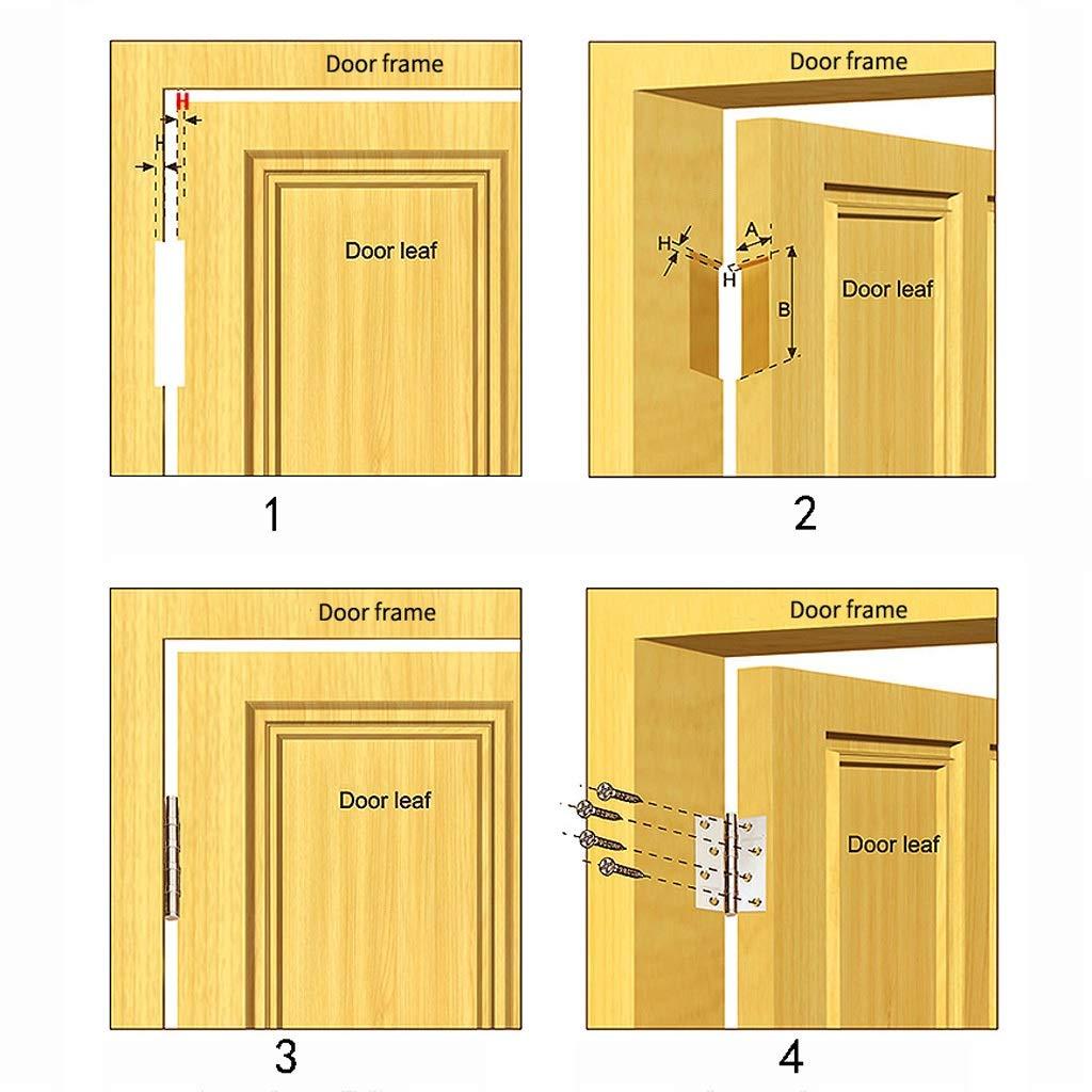 Color : B, Size : 2pcs KQHSM Door Hinge Wooden Door 4 Inch Security Door Hinge Wooden Door Hinge Stainless Steel Door Swing Hinge 1 Piece