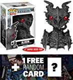 "Alduin: ~6"" Deluxe Funko POP! x The Elder Scrolls V - Skyrim Vinyl Figure + 1 FREE Video Games Themed Trading Card Bundle [52676]"