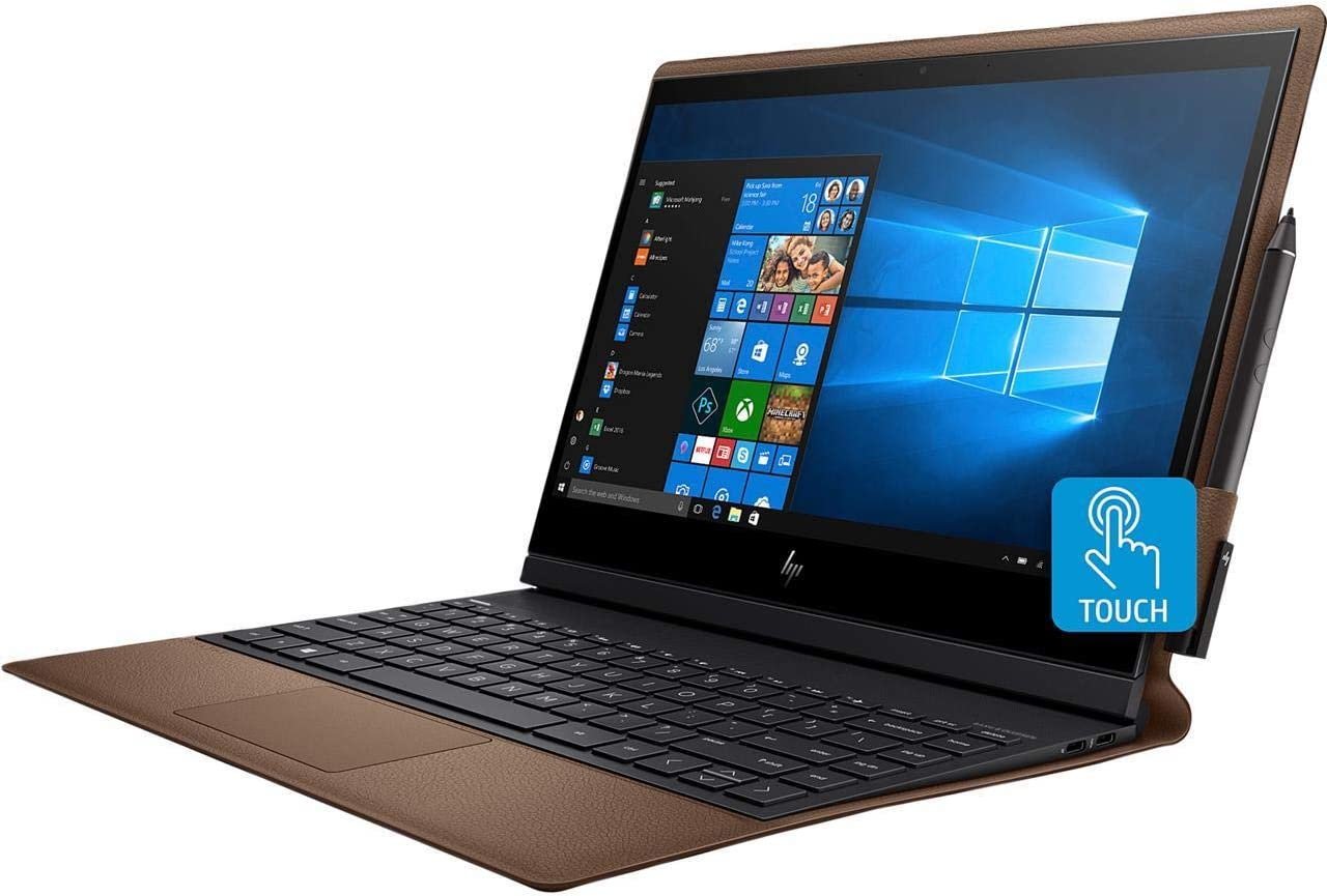 "2019 HP Spectre Folio Convertible 13.3"" FHD Touchscreen Tablet Laptop Computer, 8th Gen Intel Core i7-8500Y up to 4.2GHz, 8GB RAM, 256GB PCIe SSD, AC WiFi, USB-C, Leather Cover, Active Pen, Windows 10"