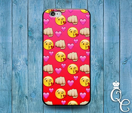 Price comparison product image *BoutiqueHouse* iPhone 4 4s 5 5s 5c SE 6 6s plus iPod Touch 4th 5th 6th Gen Custom Phone Case Cute Girly Girl Red Emoji Heart Fist Kiss Face Funny Cover(iPhone 4/4s)