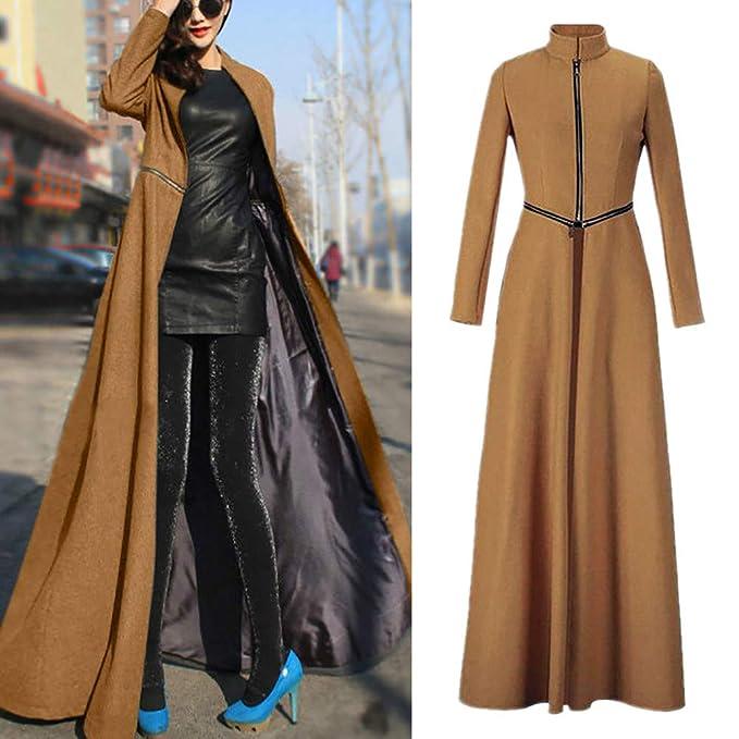 Amazon.com: Abrigo largo para mujer, chaqueta de longitud ...
