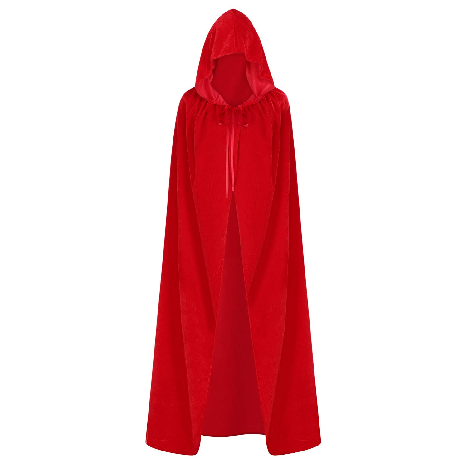 LONTG Halloween Adults Costume Cospaly Cloak Hooded Cape Long Velvet Cloak Robe Witch Wizard Vampire Costume Fanny Dress Gothic Knight Medieval Cape Christmas Costume Party Accessory Cosplay Props