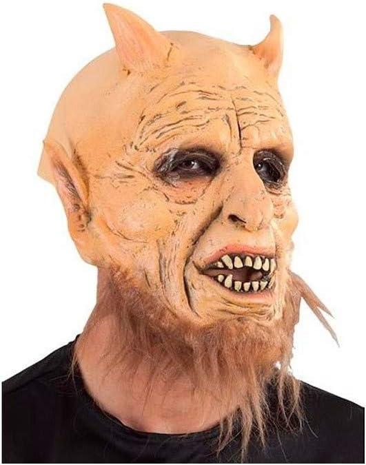 DISBACANAL Máscara Demonio Barbudo de látex: Amazon.es: Juguetes y juegos