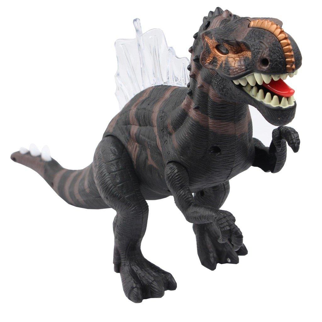 Sun Cling Electronic Toys Brown Walking Spinosaurus Dinosaur