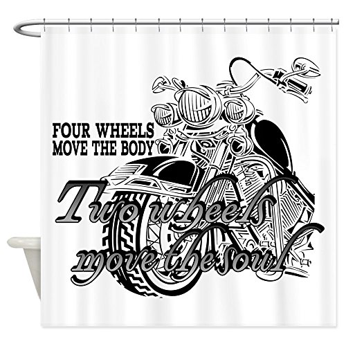 """CafePress Two wheels move the soul Motorcycle Shower Curtain Decorative Fabric Shower Curtain (69""""x70"""")"""