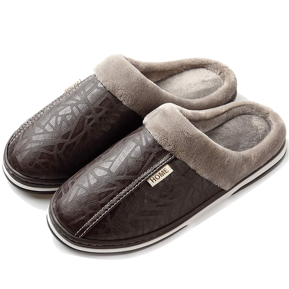 Inconnu LIEBE721 Unisexe Chaud Pantoufle Maison Imperméable en Peluche Non Glissant Portable Slipper Famille Mode Slipper