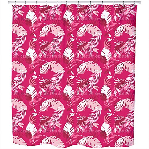 Uneekee Honolulu Pink Shower Curtain: Large Waterproof Luxurious Bathroom Design Woven Fabric by uneekee