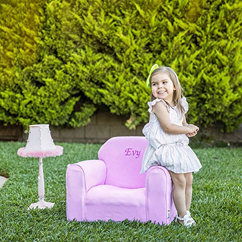 Personalized Baby Chair (Upholstered Personalized Kids Chair Microfiber Suede)