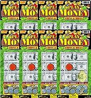 Ja-Ru Play Cash Coins & Bills Bundle Pack
