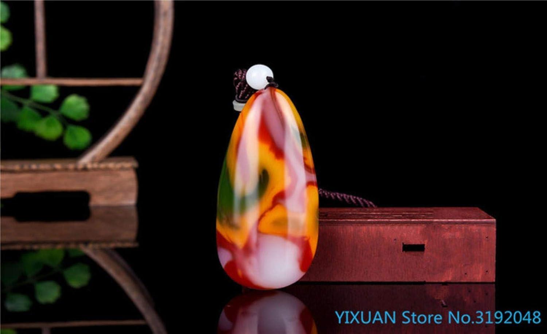 SDJH Hetian Jade Color Material de semilla de Jade Mango de Piedra en Bruto Jade Blood Jade Hand Play Colgante de Jade Natural, 1, China