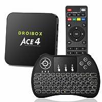 DROIBOX® ACE Android 6.0 TV Box Marshmallow KODI Smart Media Player Ultra HD 4K Amlogic S905X 64-Bit 2.0Ghz x4 802.11N WI-FI + Backlit Mini Wireless Keyboard With Touchpad HDMI Internet Streamer