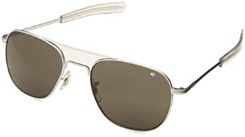 American Optical Original Pilot Bayonet 55mm Matte Chrome TC Grey Sunglasses fbe09ac0a1