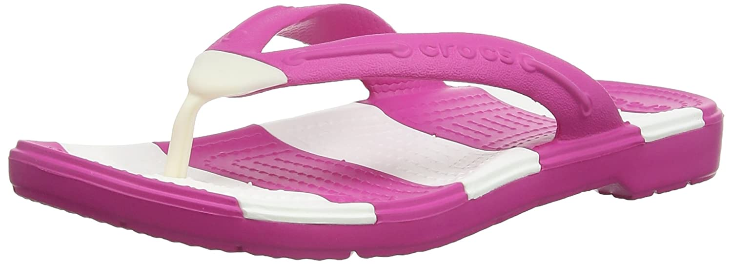 Crocs Beach Line Flip, Mixte Adulte Sandales, Rose (Fuchsia/White), 38-39  EU: Amazon.fr: Chaussures et Sacs