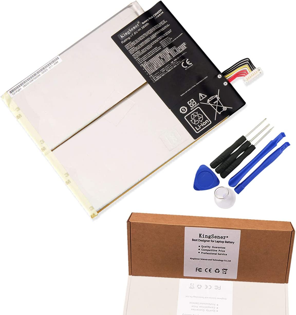 Kingsener C21N1334 Laptop Battery for ASUS Transformer Book T200TA 1A 1K 200TA-C1-BL Tablet 7.6V 38WH