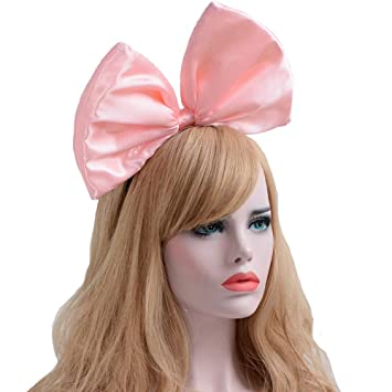 61121adb9b ... Hoop Women Girls Bow Hairband Party Decoration Headdress Cosplay Costume  Headwear Handmade Headpiece Christmas Hair Accessories 1 Pack Pink   Beauty