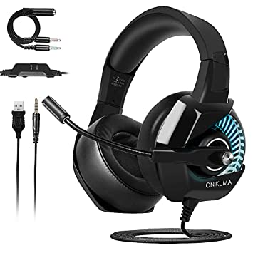 Auriculares Gaming para PS4 Nintendo Switch Xbox One PC, ONIKUMA Cascos Gaming con Sonido Envolvente y Cancelacion Ruido Headset (RGB): Amazon.es: ...