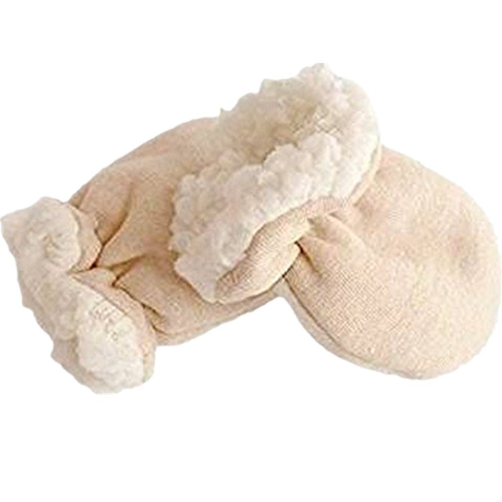 Winter Baby Golves Children Mitten Organic Cotton Imitation Cashmere Anti Scratch Thicken Warm Glove for(0-6 Month) Kid Newoborn Infant By Webeauty Webeauty-01