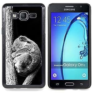 """Qstar Arte & diseño plástico duro Fundas Cover Cubre Hard Case Cover para Samsung Galaxy On5 O5 (Bebé Sleepy Koala"""")"""