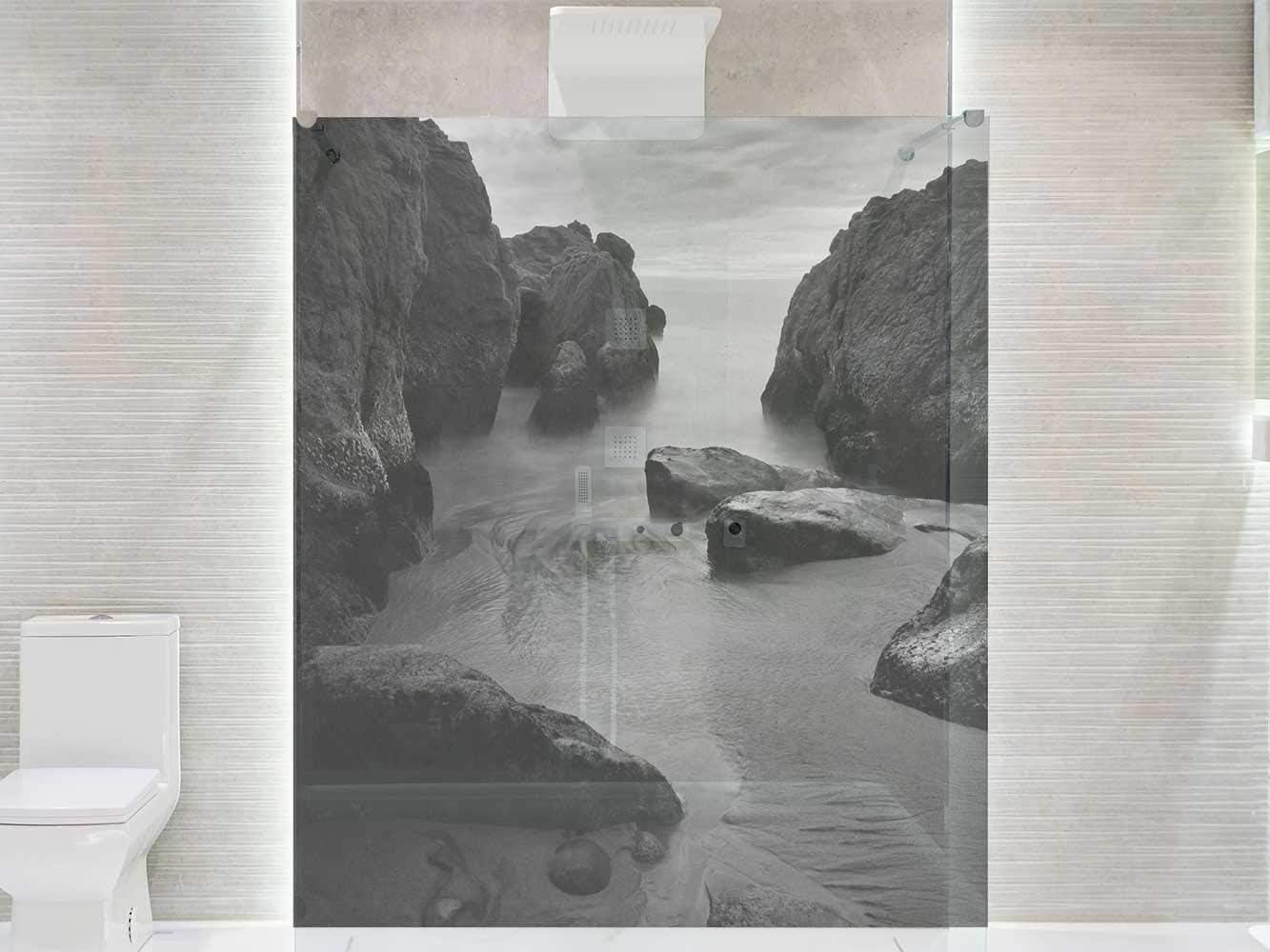 Vinilo Transparente para Mamparas de Ducha y Baños Acantilados ...